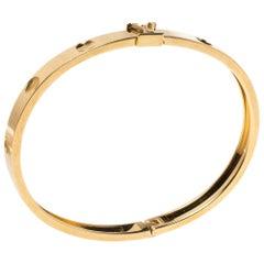 Louis Vuitton Empreinte 18K Yellow Gold Bangle Size Medium 16