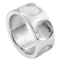 Louis Vuitton Empreinte Large Model 18 Karat White Gold Band Ring