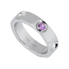 Louis Vuitton Empreinte White Gold and Pink Sapphire Ring