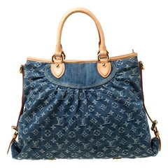 Louis Vuitton Encre Monogram Denim Neo Cabby GM Bag