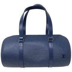 Louis Vuitton Epi Blue Soufflot Bag