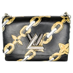 Louis Vuitton EPI Chain Flower Print Twist MM Cross-body Bag