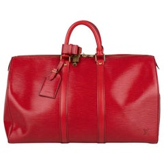 Louis Vuitton Epi Keepall 45 Weekend Bag