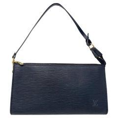 Louis Vuitton Epi Leather Black Pochette Clutch