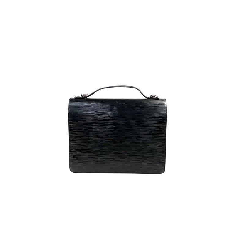 Black Louis Vuitton EPI Monceau 28 For Sale