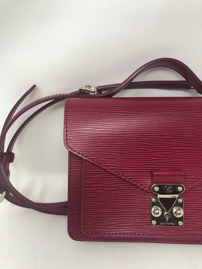 Louis Vuitton Epi Monceau BB Fushia Crossbody For Sale 8
