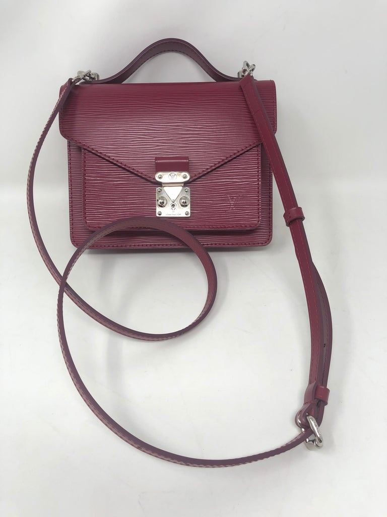 Louis Vuitton Epi Monceau BB Fushia color. All leather bag in mint like new condition. Rare and hard to find bag from LV Spring 2013 collection. All leather and durable bag. Includes dust cover and box. Guaranteed authentic.