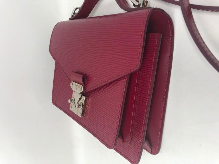 Women's or Men's Louis Vuitton Epi Monceau BB Fushia Crossbody For Sale