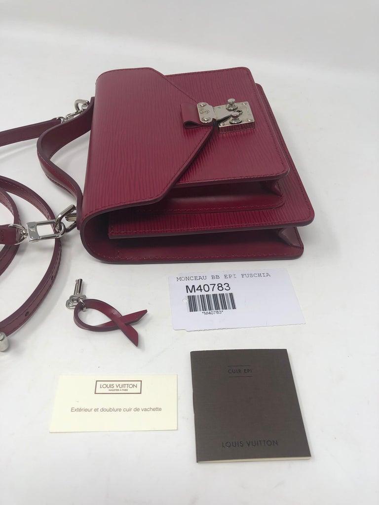 Louis Vuitton Epi Monceau BB Fushia Crossbody For Sale 5