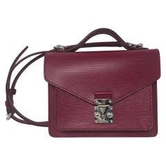 Louis Vuitton Epi Monceau BB Fushia Crossbody