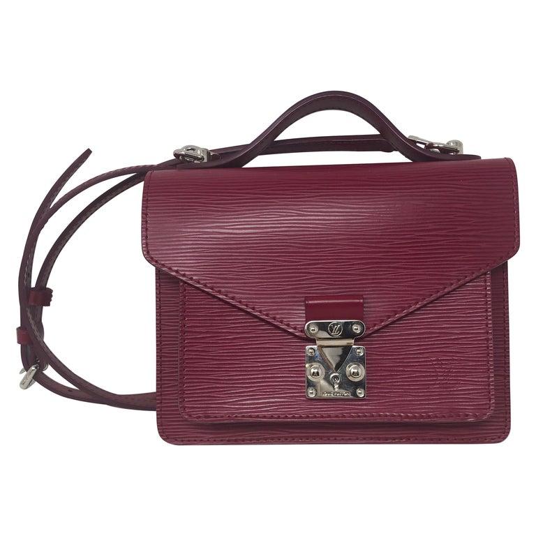 Louis Vuitton Epi Monceau BB Fushia Crossbody For Sale