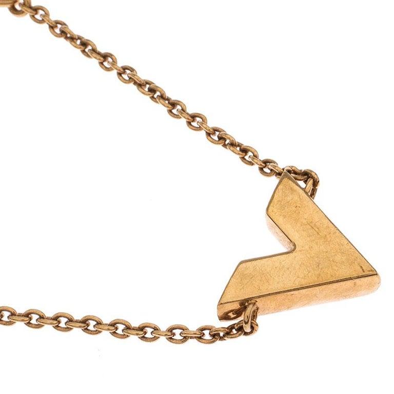 Louis Vuitton Essential V Gold Tone Bracelet 2