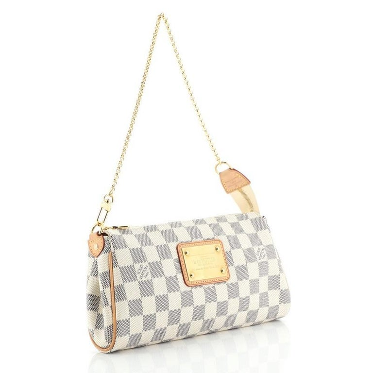 Beige Louis Vuitton Eva Crossbody Damier