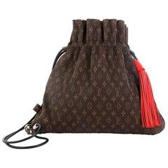 Louis Vuitton Explorer Shoulder Bag Pleated Monogram Canvas MM