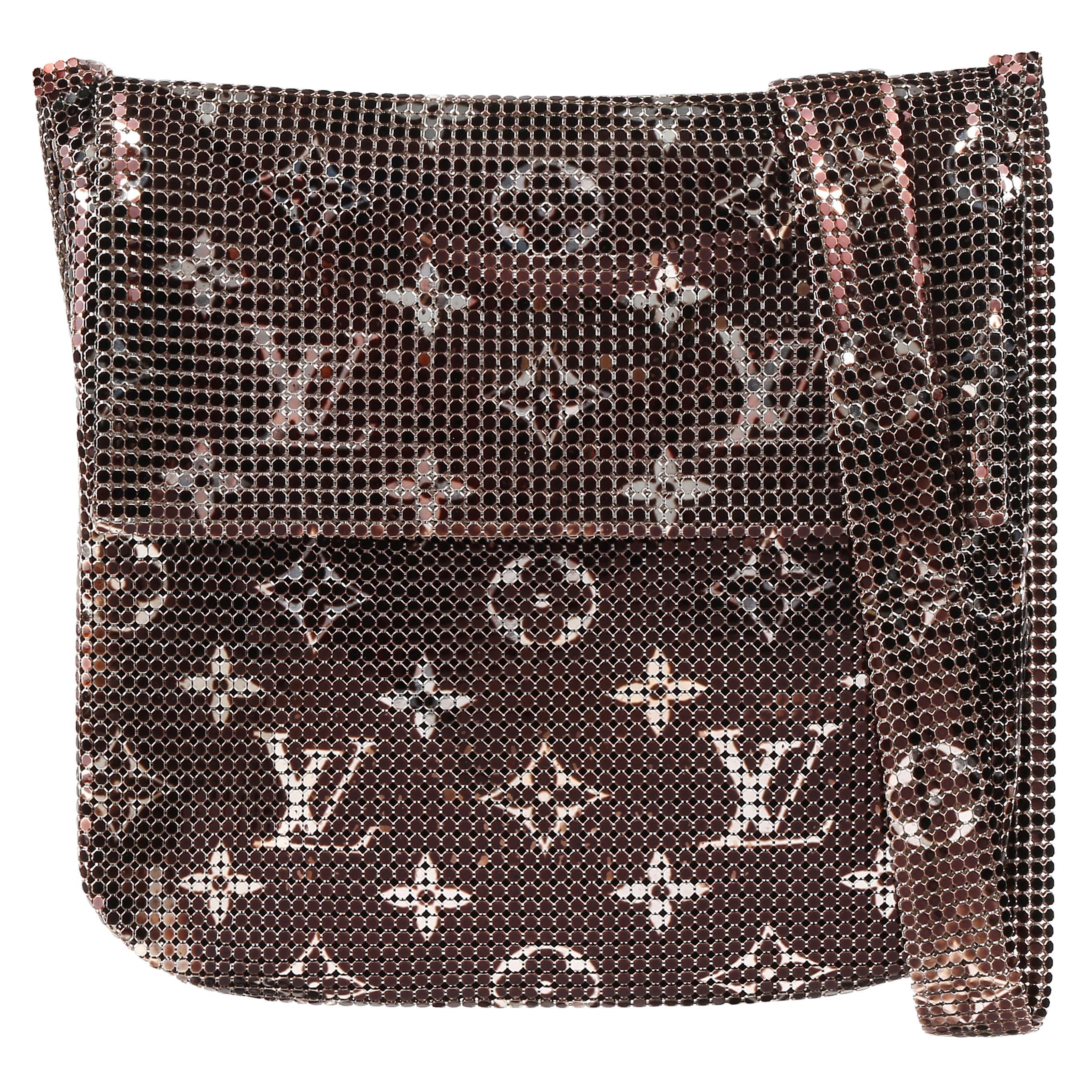 "LOUIS VUITTON F/W 2002 ""Frances"" Metallic Monogram Metal Mesh Crossbody Handbag"