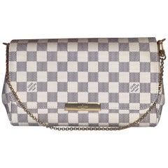 Louis Vuitton Favorite MM Damier Azur Canvas Bag Pochette Clutch