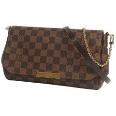 LOUIS VUITTON Favorite MM Womens shoulder bag N41129 Damier ebene