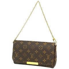 LOUIS VUITTON Favorite PM leather w shoulder strap Womens shoulder bag M40717