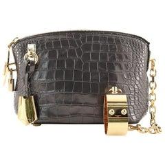 Louis Vuitton Fetish Lockit Cuff Clutch Crocodile