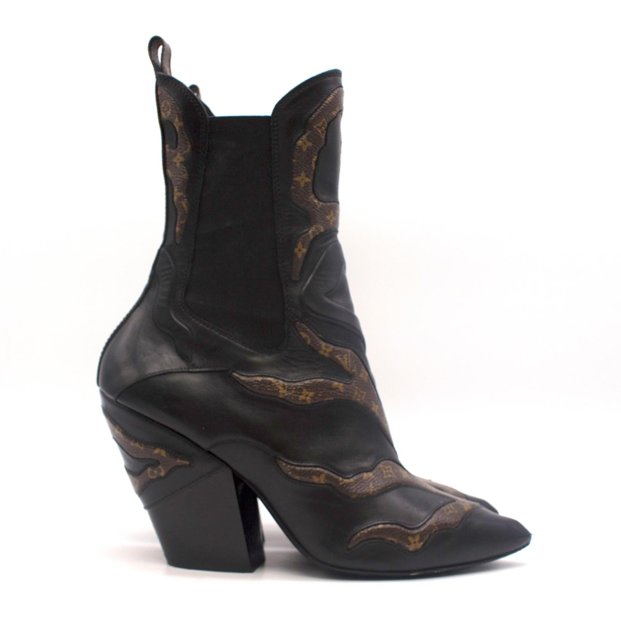 3bd722074e48 Louis Vuitton Fireball Leather Ankle Boots - Current Season 38.5 For Sale  at 1stdibs