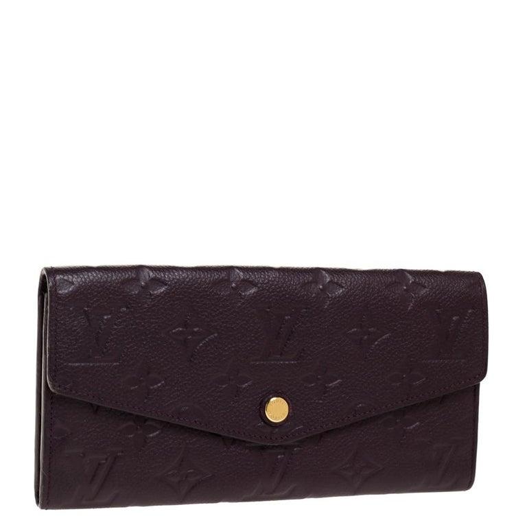Louis Vuitton Flamme Monogram Empreinte Curieuse Wallet In Good Condition For Sale In Dubai, Al Qouz 2