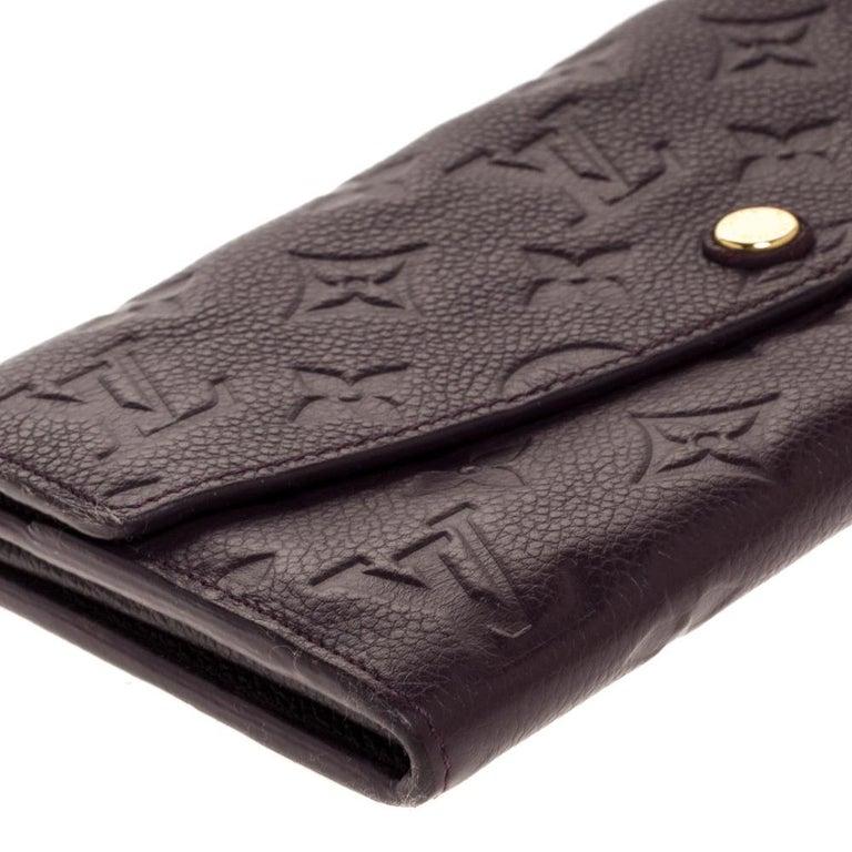 Louis Vuitton Flamme Monogram Empreinte Curieuse Wallet For Sale 1