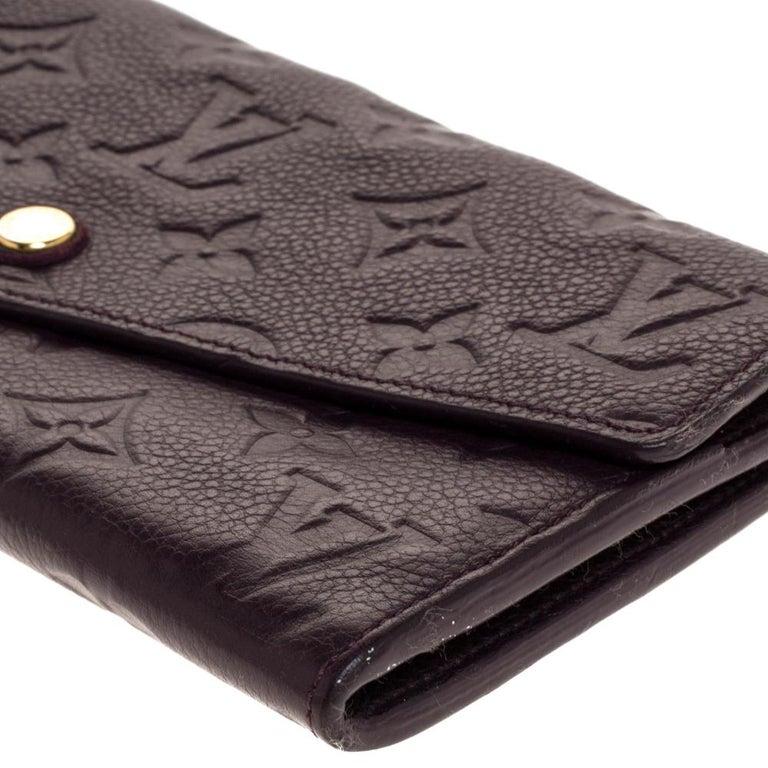 Louis Vuitton Flamme Monogram Empreinte Curieuse Wallet For Sale 3