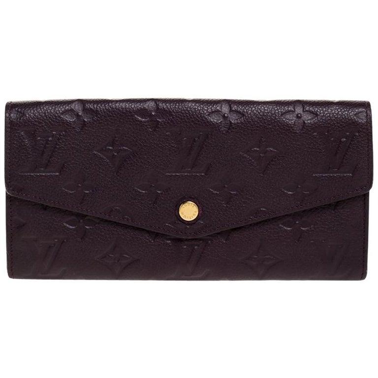 Louis Vuitton Flamme Monogram Empreinte Curieuse Wallet For Sale