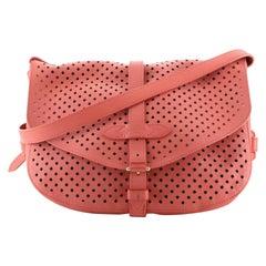 Louis Vuitton Flore Saumur Handbag Perforated Leather