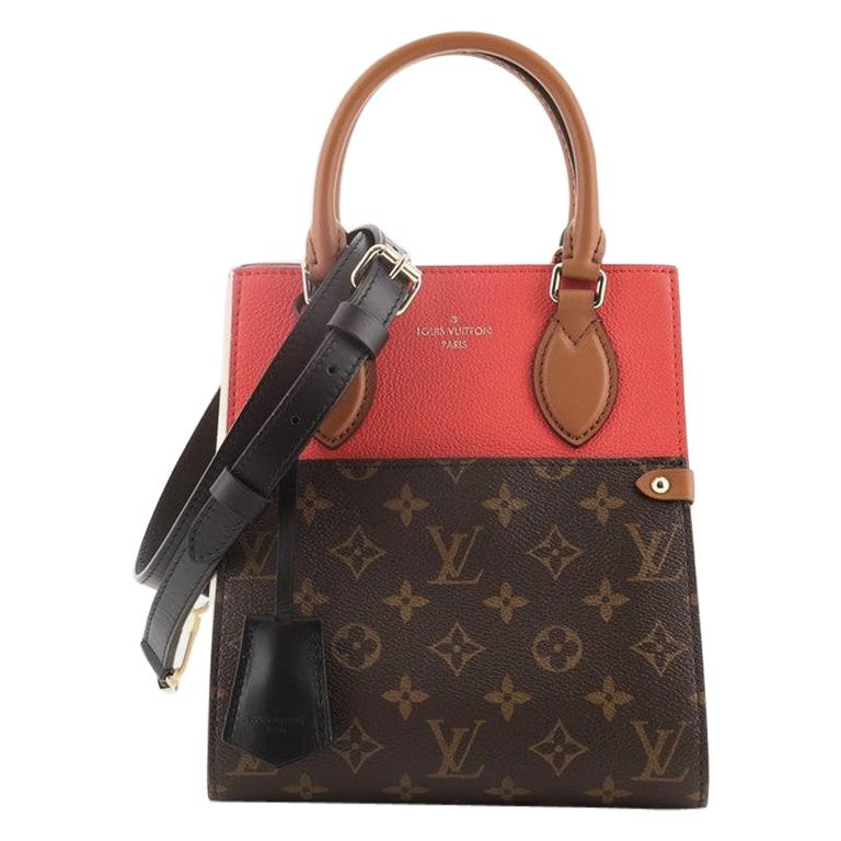 Louis Vuitton Fold Tote Monogram Canvas and Leather PM For Sale