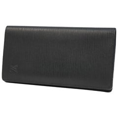 LOUIS VUITTON Folded portofeuilles Brazza Mens long wallet M60622 noir