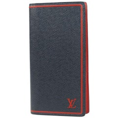 LOUIS VUITTON Folded portofeuilles Brazza Mens long wallet M63434 blue Marine
