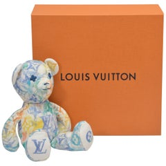 Louis Vuitton For UNICEF DouDou Mini Teddy Bear Watercolors Print NEW With Box