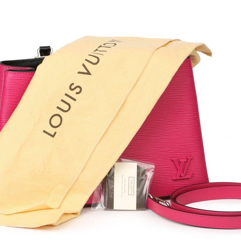 Louis Vuitton Freesia & Black Epi Leather Kleber PM  For Sale 5
