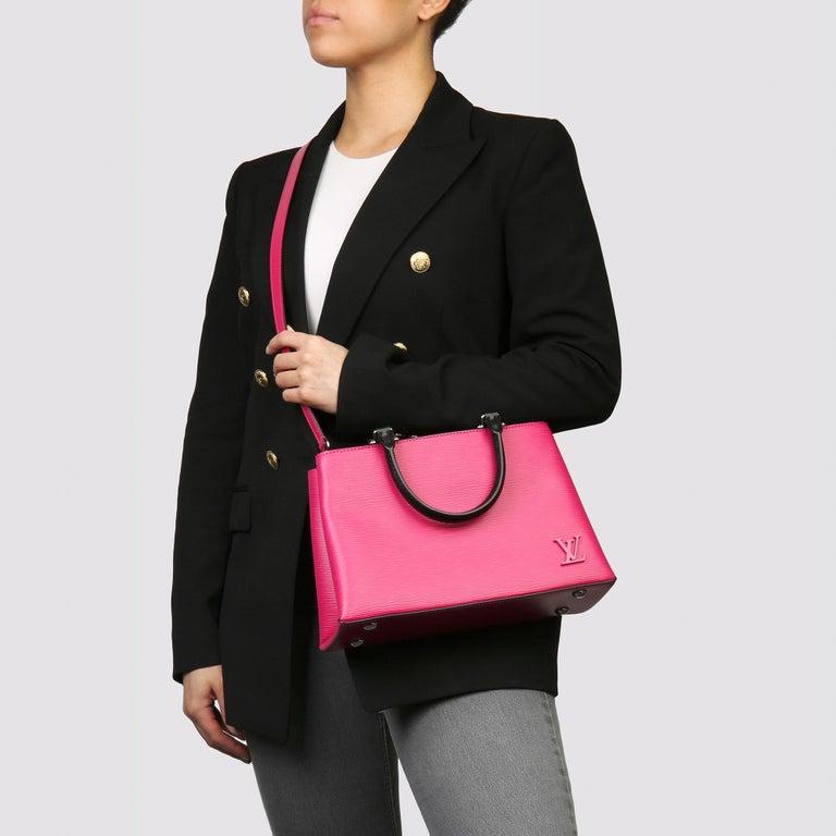 Louis Vuitton Freesia & Black Epi Leather Kleber PM  For Sale 6