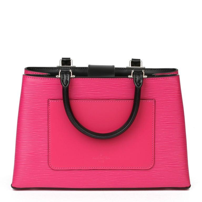 Pink Louis Vuitton Freesia & Black Epi Leather Kleber PM  For Sale