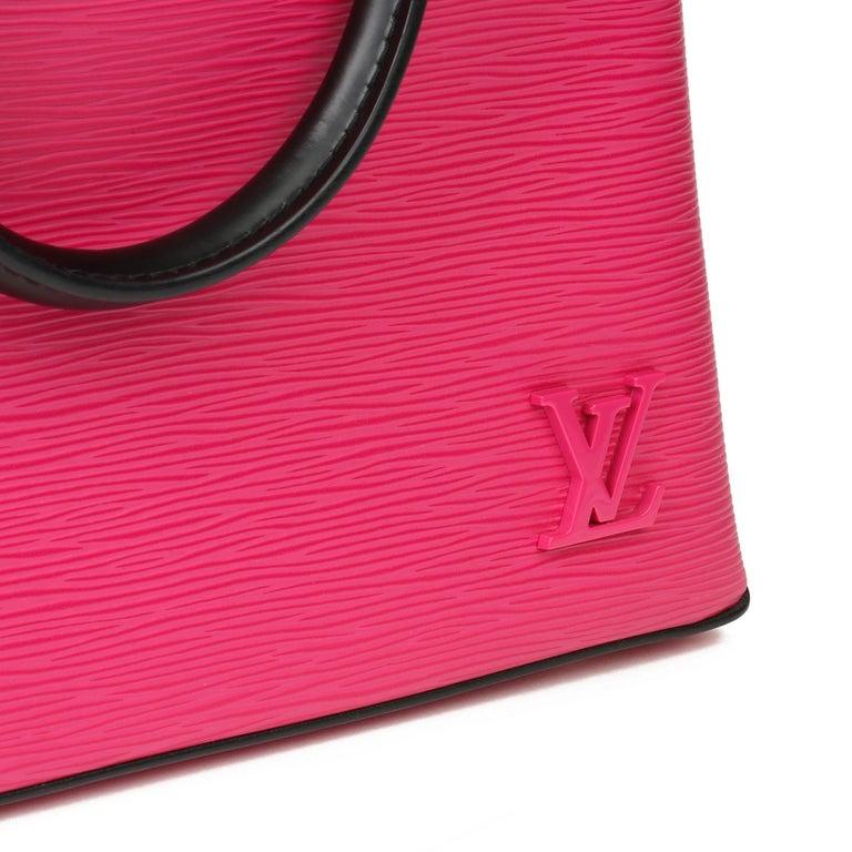 Women's Louis Vuitton Freesia & Black Epi Leather Kleber PM  For Sale