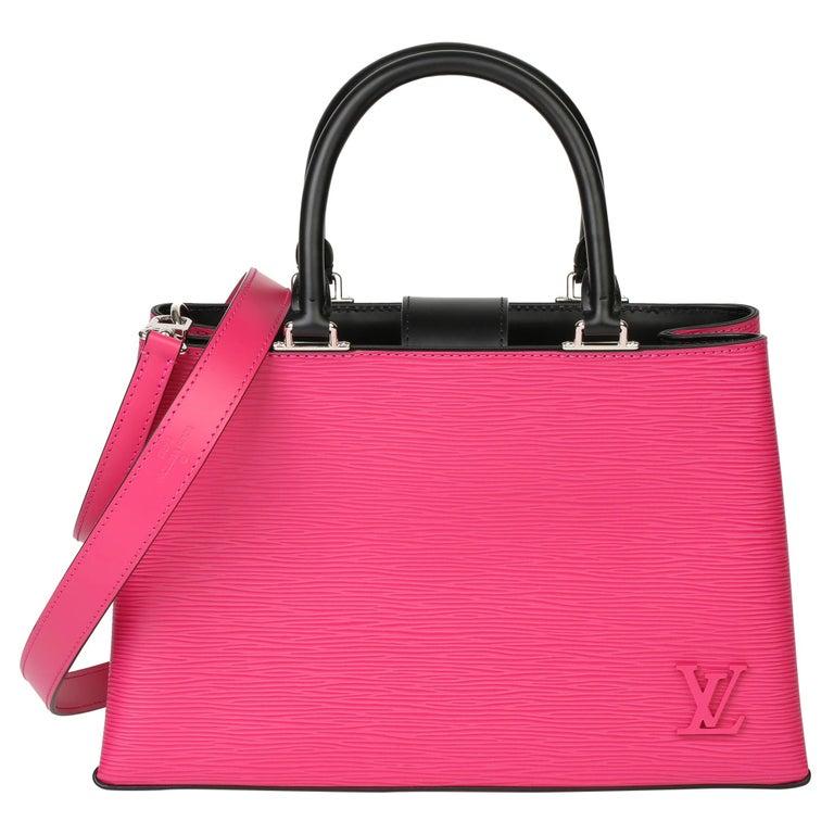 Louis Vuitton Freesia & Black Epi Leather Kleber PM  For Sale