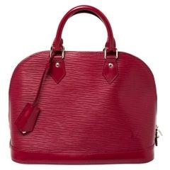 Louis Vuitton Fuchsia Epi Leather Alma PM Bag