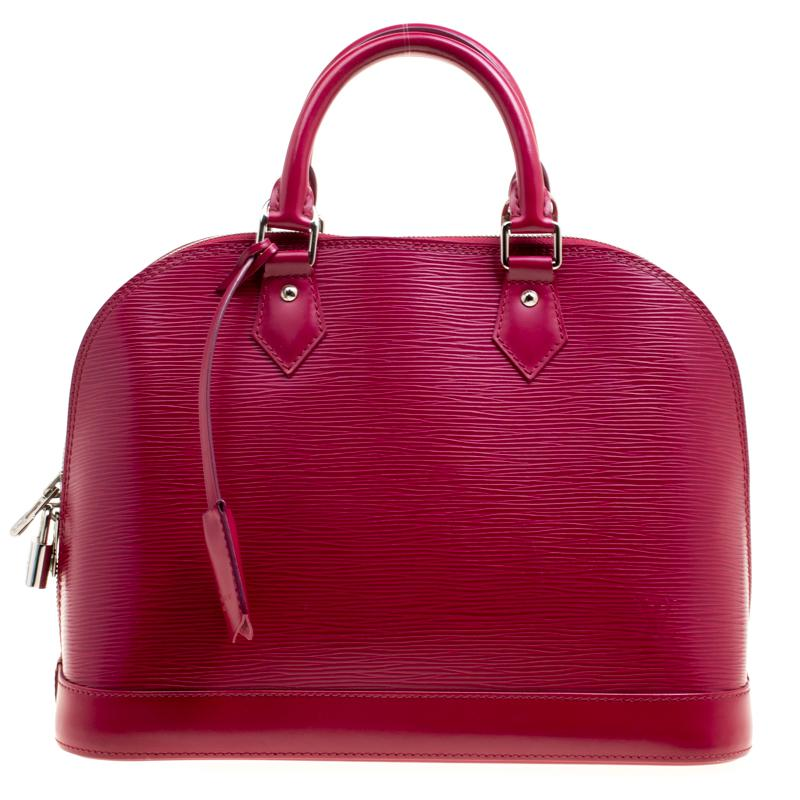 1f23a4fb1320 Louis Vuitton Fuchsia Epi Leather Alma PM Bag For Sale at 1stdibs