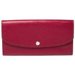 Louis Vuitton Fuchsia Epi Leather Emilie Wallet