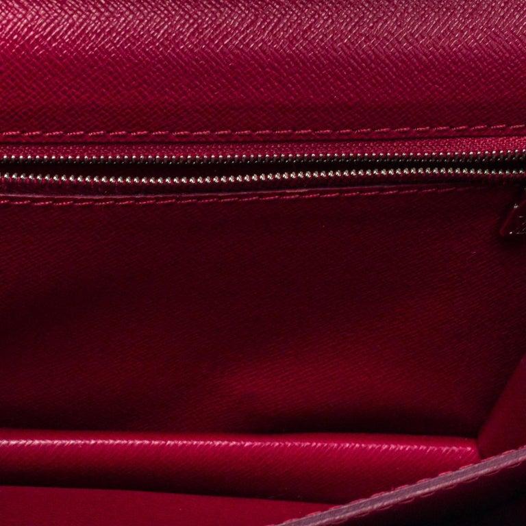Louis Vuitton Fuchsia Epi Leather Monceau BB Bag For Sale 5