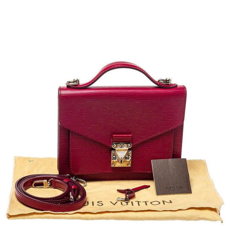 Louis Vuitton Fuchsia Epi Leather Monceau BB Bag For Sale 6