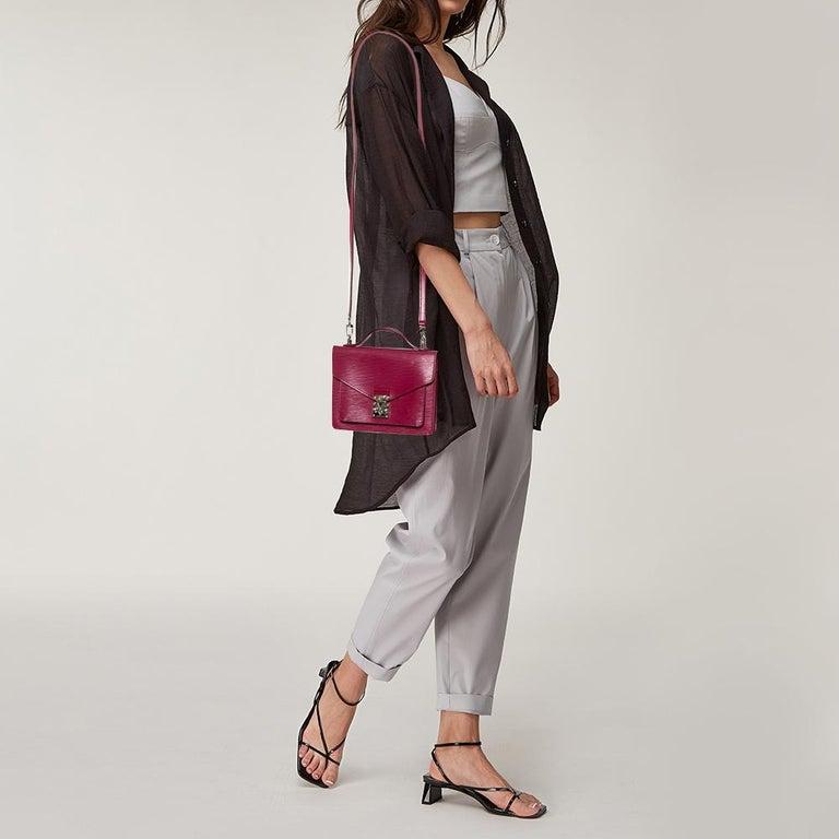 Red Louis Vuitton Fuchsia Epi Leather Monceau BB Bag For Sale