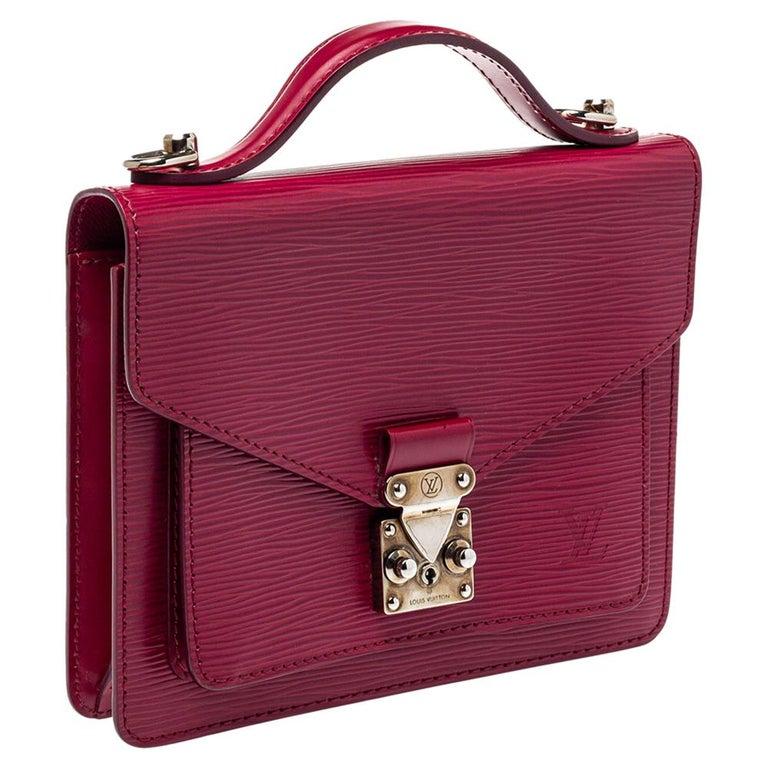 Louis Vuitton Fuchsia Epi Leather Monceau BB Bag In Good Condition For Sale In Dubai, Al Qouz 2