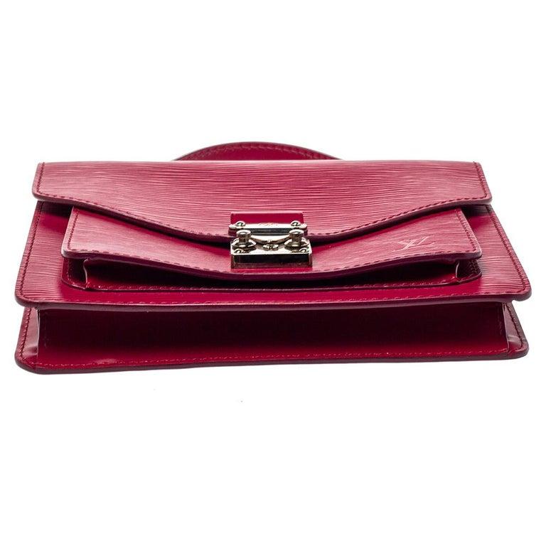 Women's Louis Vuitton Fuchsia Epi Leather Monceau BB Bag For Sale