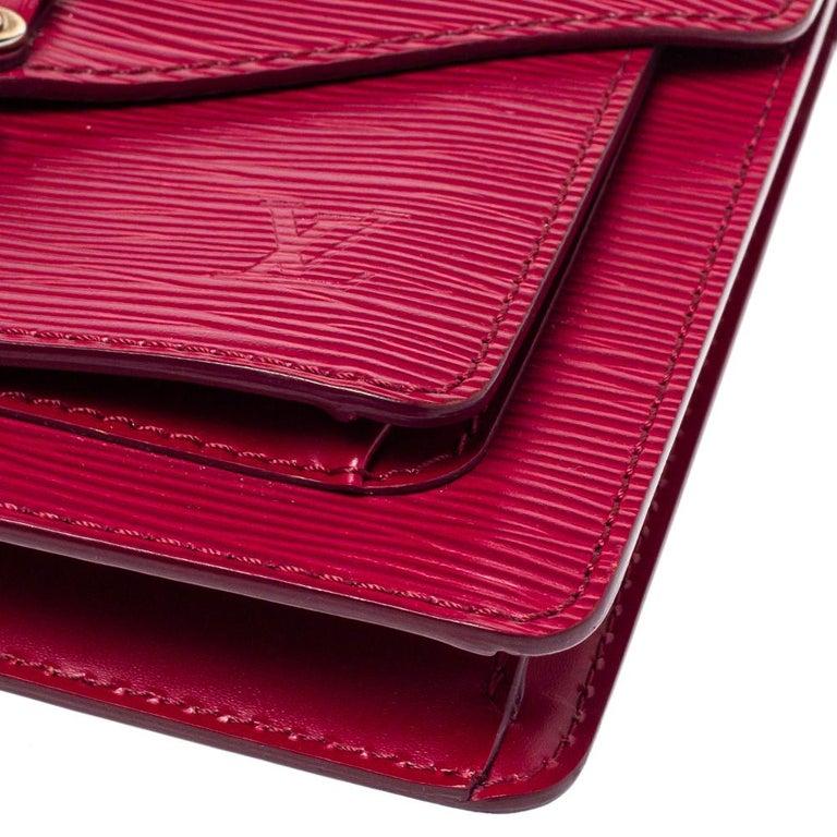 Louis Vuitton Fuchsia Epi Leather Monceau BB Bag For Sale 1