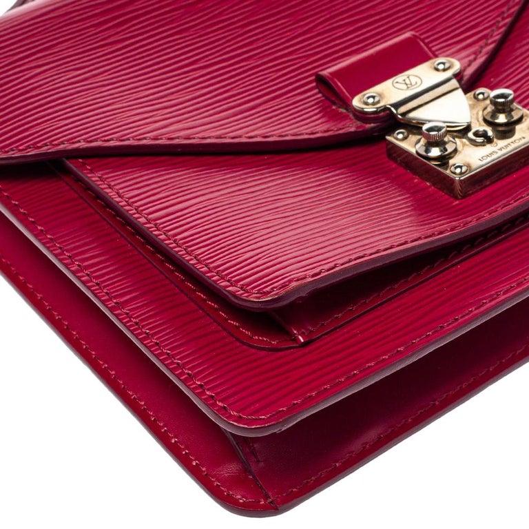 Louis Vuitton Fuchsia Epi Leather Monceau BB Bag For Sale 3