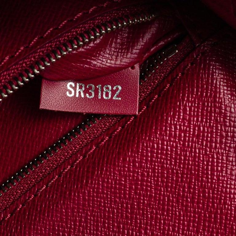 Louis Vuitton Fuchsia Epi Leather Monceau BB Bag For Sale 4