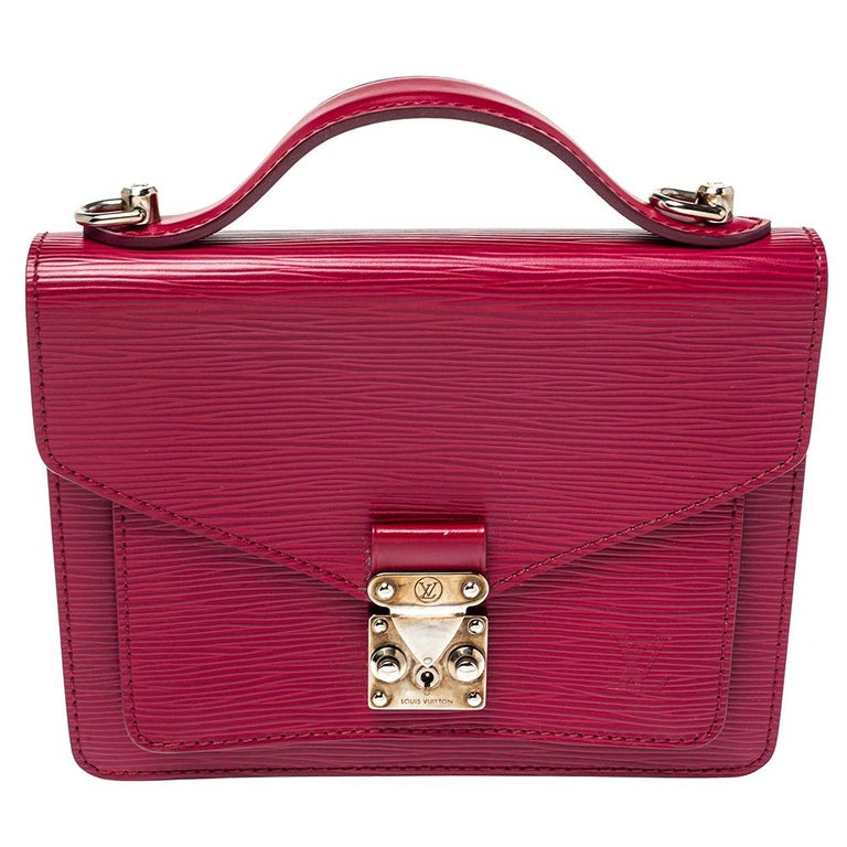 Louis Vuitton Fuchsia Epi Leather Monceau BB Bag For Sale